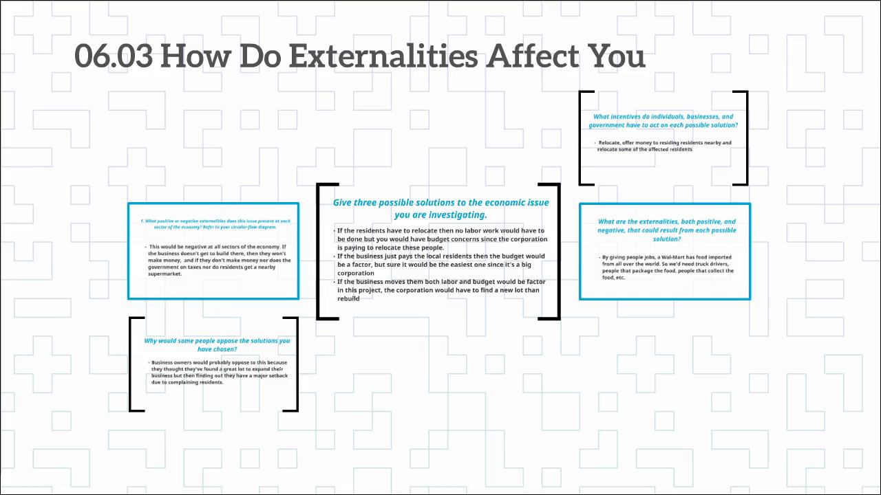 Affectingyou: - 06.03 How Do Externalities Affect You