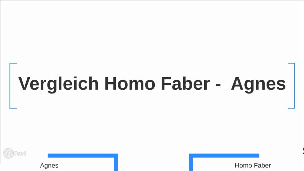 vergleich agnes homo faber